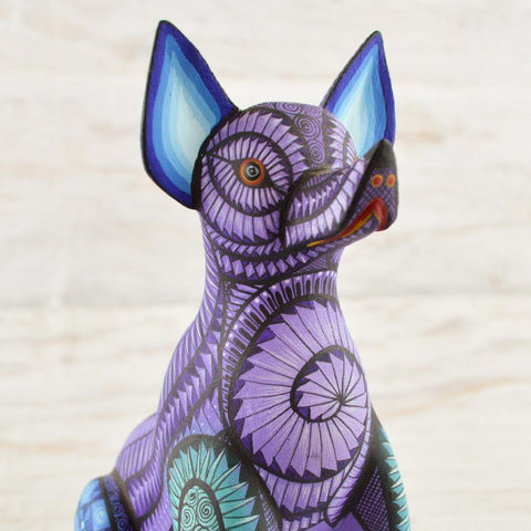 Image of Alebrije Oaxacan Wood Carving Dog - Magia Mexica