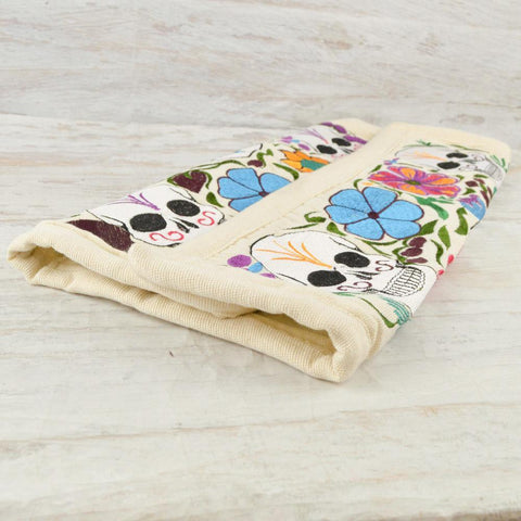 Image of Embroidered Pillow Cover | Beige