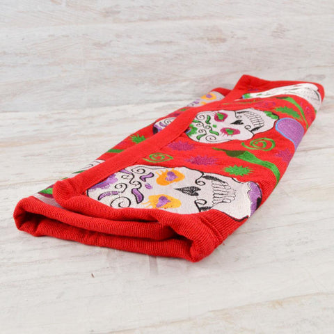 Image of Embroidered Pillow Cover | Red 3 - Magia Mexica