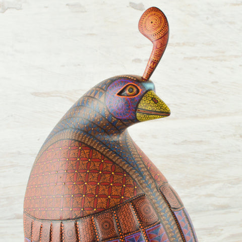 Image of Alebrije Oaxacan Wood Carving Quail - Magia Mexica
