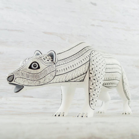 Image of Alebrije Oaxacan Wood Carving Bear - Magia Mexica