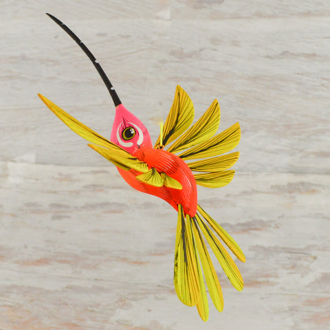 Image of Hummingbirds 3 Set Alebrije Oaxacan Wood Carving - Alebrije Huichol Mexican Folk art magiamexica.com