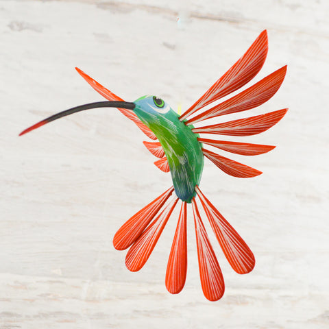 Hummingbirds 5 Set Alebrije Oaxacan Wood Carving - Magia Mexica