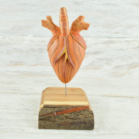 Image of Heart Alebrije Oaxacan Wood Carving - Magia Mexica