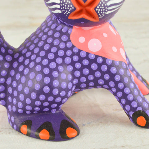 Image of Rabbit Alebrije Oaxacan Wood Carving - Alebrije Huichol Mexican Folk art magiamexica.com