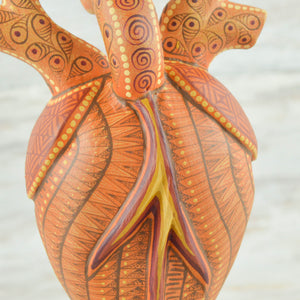 Heart Alebrije Oaxacan Wood Carving - Magia Mexica