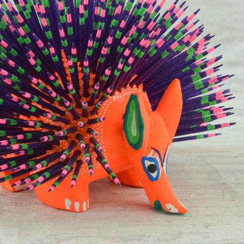 Image of Alebrije Oaxacan Wood Carving Hummingbird - Magia Mexica