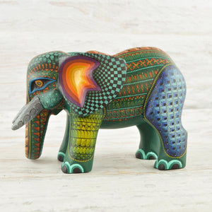 Alebrije Oaxacan Wood Carving Elephant - Magia Mexica