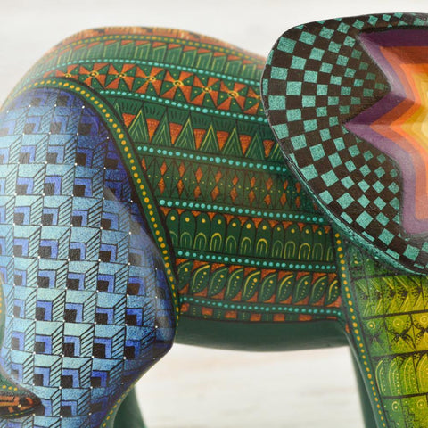 Image of Alebrije Oaxacan Wood Carving Elephant - Magia Mexica