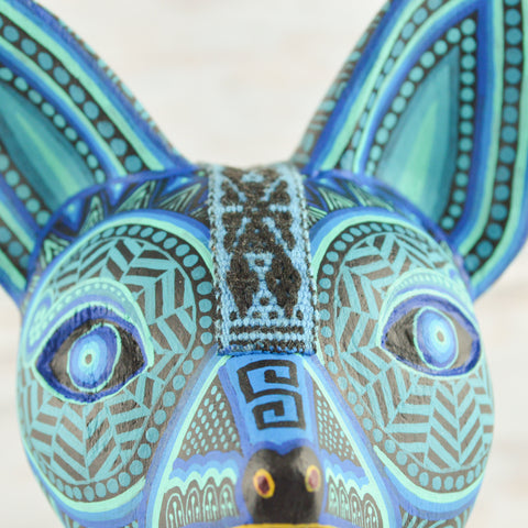 Image of Xoloescuintle  Alebrije Oaxacan Wood Carving - Alebrije Huichol Mexican Folk art magiamexica.com