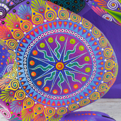 Image of Huichol Art Beaded Animals Wolf - Magia Mexica