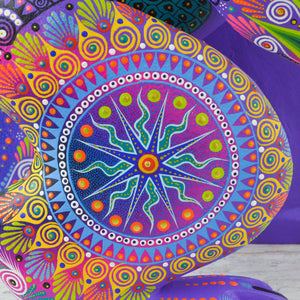 Huichol Art Beaded Animals Wolf - Magia Mexica