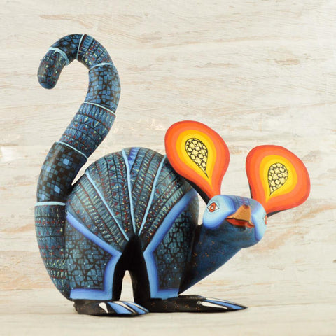 Image of Alebrije Oaxacan Wood Carving Armadillo - Magia Mexica