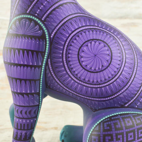 Image of Cat Alebrije Oaxacan Wood Carving - Alebrije Huichol Mexican Folk art magiamexica.com