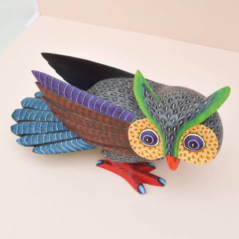 Image of Alebrije Oaxacan Wood Carving Rino - Magia Mexica