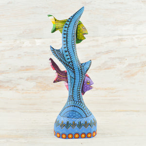 Fish Alebrije Oaxacan Wood Carving - Magia Mexica
