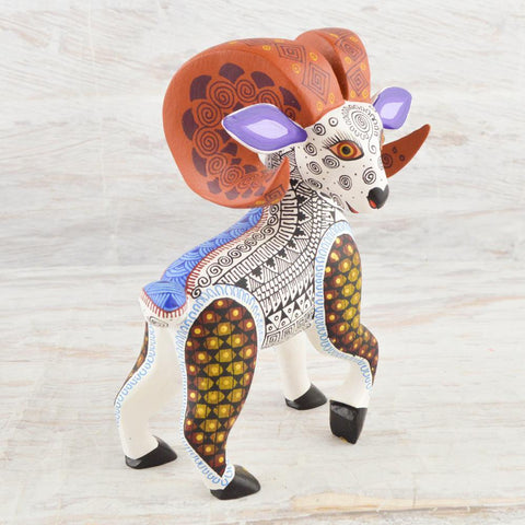 Alebrije Oaxacan Wood Carving Ram  - Magia Mexica