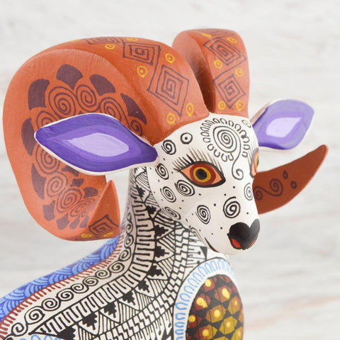 Image of Alebrije Oaxacan Wood Carving Ram  - Magia Mexica