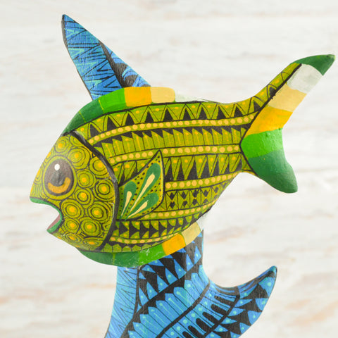 Image of Fish Alebrije Oaxacan Wood Carving - Magia Mexica