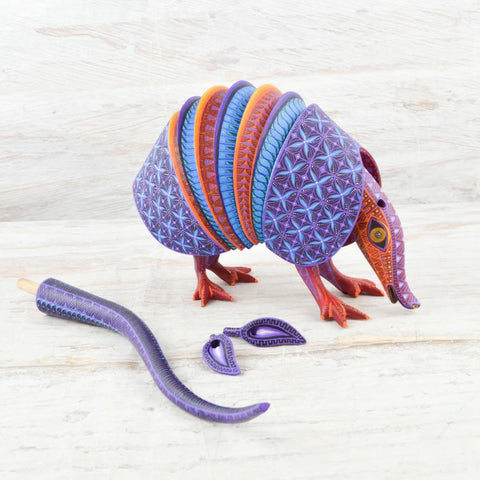 Alebrije Oaxacan Wood Carving Armadillo - Magia Mexica