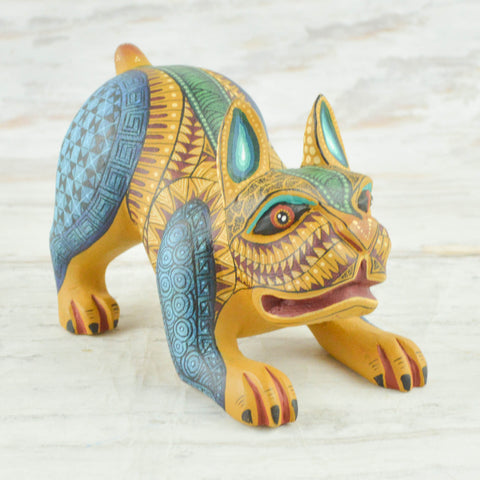 Alebrije Oaxacan Wood Carving Dog - magiamexica.com