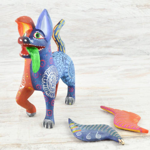 Image of Alebrije Oaxacan Wood Carving Dante - Magia Mexica