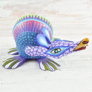 Armadillo Alebrije Oaxacan Wood Carving - Magia Mexica