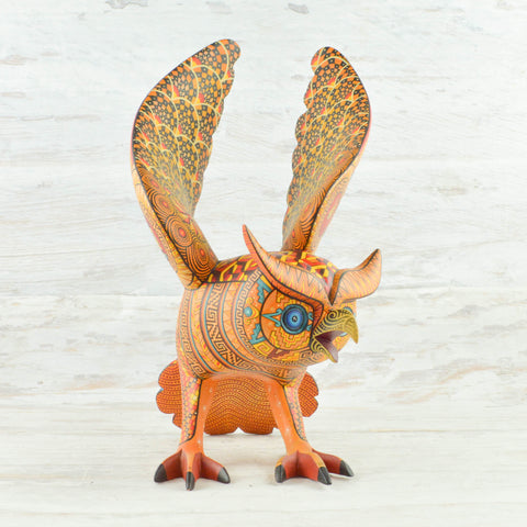 Image of Alebrije Oaxacan Wood Carving Owl - magiamexica.com