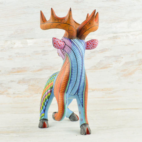 Image of Deer #4 Alebrije Oaxacan Wood Carving - Magia Mexica