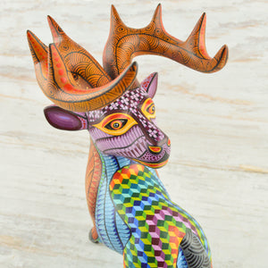 Deer #4 Alebrije Oaxacan Wood Carving - Magia Mexica