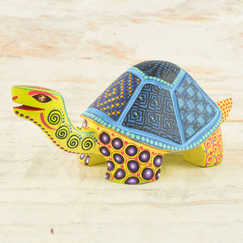 Image of Alebrije Oaxacan Wood Carving Turtle - Magia Mexica