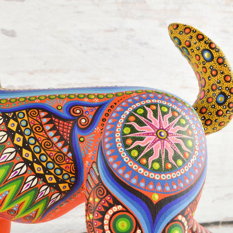 Alebrije Oaxacan Wood Carving Deer - Magia Mexica