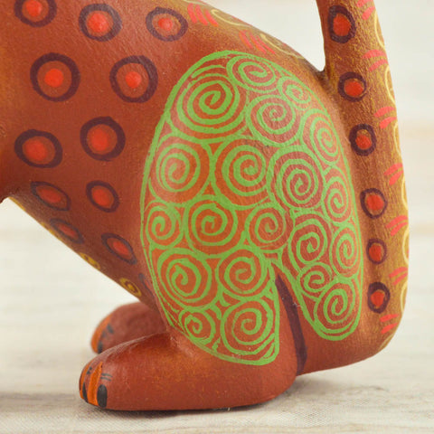 Cat Alebrije Oaxacan Wood Carving - Magia Mexica