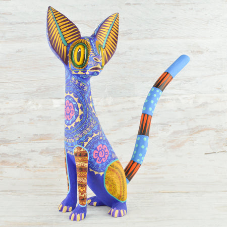 Dog Alebrije Coco Oaxacan Wood Carving