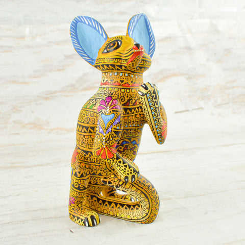 Image of Alebrije Oaxacan Wood Carving Leopard - Magia Mexica