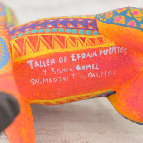 Image of  Alebrije Oaxacan Wood Carving Giraffe - Magia Mexica
