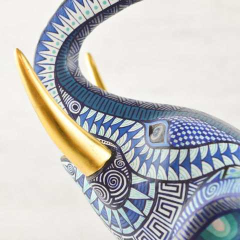 Image of Alebrije Oaxacan Wood Carving Porcupine - Magia Mexica