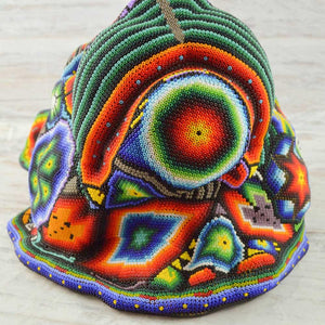 Huichol Art Beaded Animals Jaguar Head - Magia Mexica