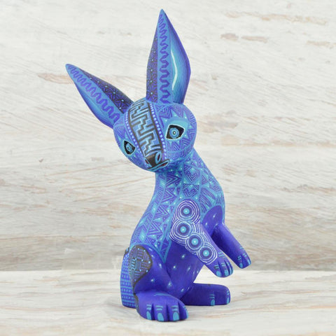 Image of Alebrije Oaxacan Wood Carving Rabbit - Magia Mexica