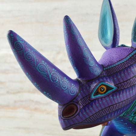 A1656 Rabbit Alebrije Oaxacan Wood Carving