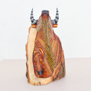Huichol Art Beaded Animals Cat - Magia Mexica