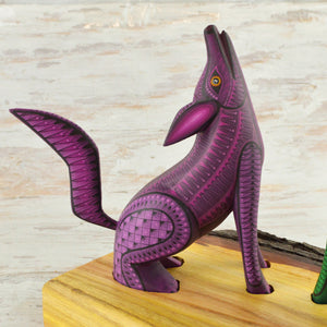 Coyotes Set Alebrije Oaxacan Wood Carving - Magia Mexica
