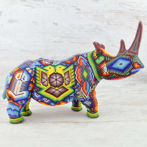 A1150 Bighorn Sheep Alebrije Wood Carving - Alebrije Huichol Mexican Folk art magiamexica.com
