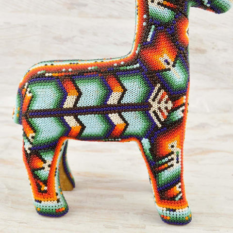 Image of Huichol Art Beaded Animals Deer - Magia Mexica