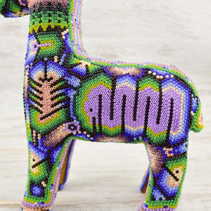Huichol Art Beaded Animals Deer - Magia Mexica