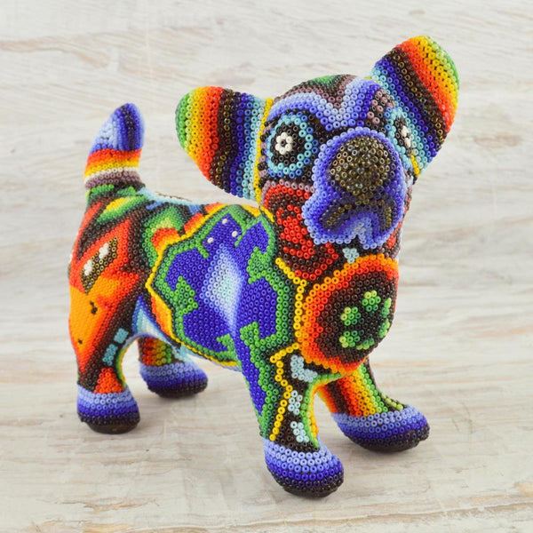 M054 Orange-Purple Pegion Mini Alebrije - Alebrije Huichol Mexican Folk art magiamexica.com