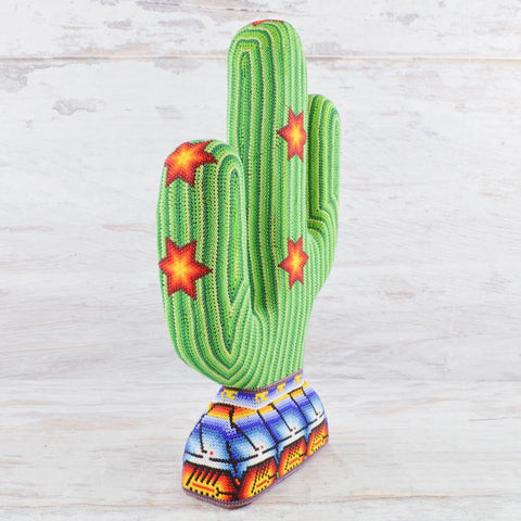 Image of Huichol Art Beaded Animals Cactus - Magia Mexica