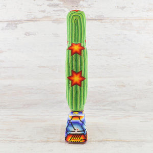 Huichol Art Beaded Animals Cactus - Magia Mexica