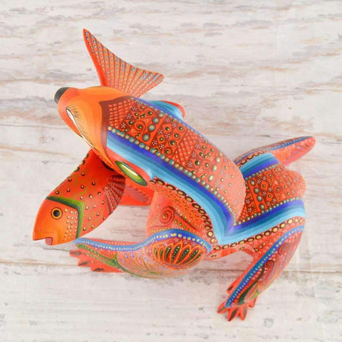 Image of Bear Alebrije Oaxacan Wood Carving - Alebrije Huichol Mexican Folk art magiamexica.com