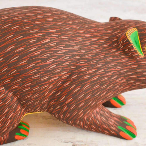 Image of Beaver Alebrije Oaxacan Wood Carving